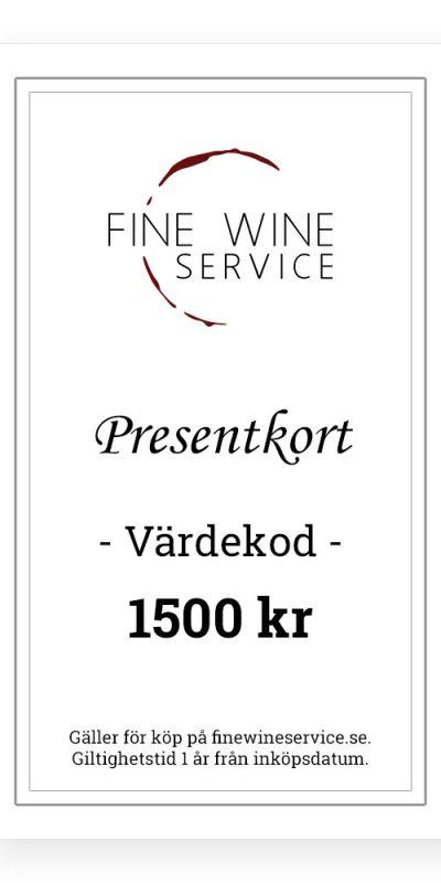 Presentkort 1500