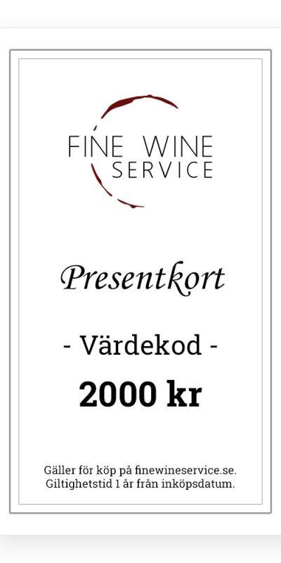 Presentkort 2000